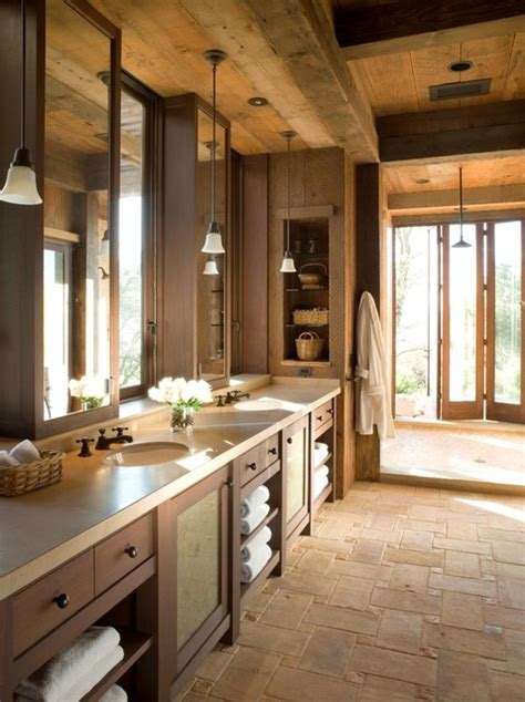 country rustic bathroom ideas napa wine country