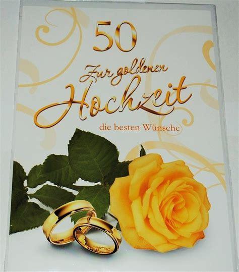 Goldene Hochzeit Karte by Karte Zur Goldenen Hochzeit Und Umschlag Partyland