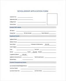 scholarship forms template sle scholarship form 8 documents in pdf word