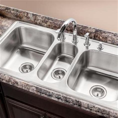 3 Bowl Kitchen Sink by Selecting The Ideal Kitchen Sink At The Home Depot