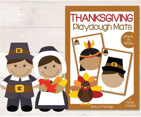 printable thanksgiving playdough mats 1000 images about kids thanksgiving fall on pinterest