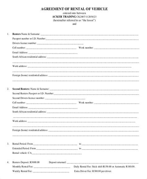 17 Car Rental Agreement Templates Free Word Pdf Format Download Free Premium Templates Free Vehicle Rental Agreement Template