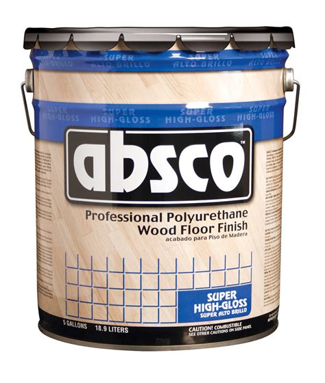 gallon container  absco gloss wood floor finish oil