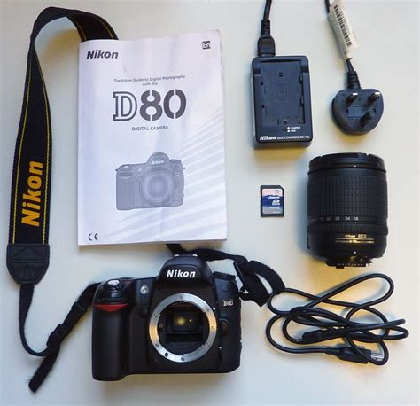 Nikon D80 Kit 18 135mm 9 the nikon d80 kit includes the following and