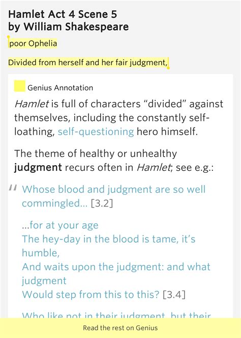 themes of hamlet act 4 poor ophelia divided from herself and hamlet act 4