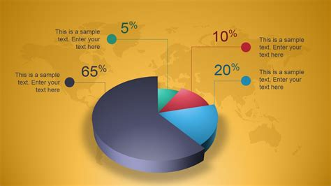Creative 3d Perspective Pie Chart For Powerpoint Slidemodel Pie Chart Template Powerpoint