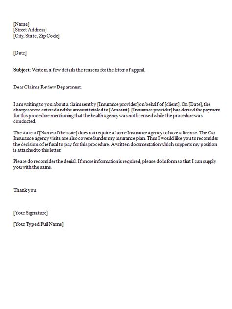 Appeal Letter Blue Cross Letter Of Appeal Sle Template Best Business Template
