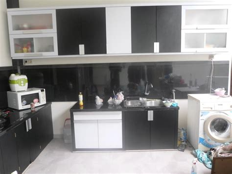 Custom Hitam Putih kitchen set hitam putih monokrom furniture semarang