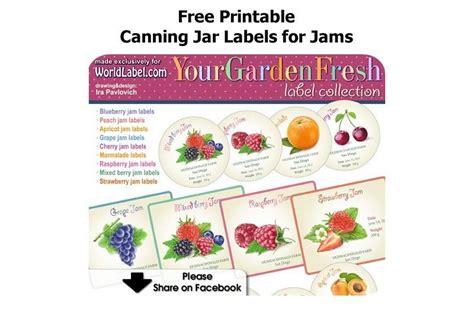 free printable jar labels for home canning jar labels free printable canning jar labels for jams