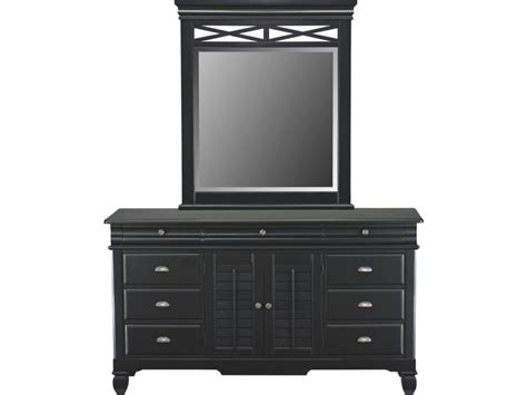 Plantation Cove Black Dresser Mirror Value City Plantation Cove Bedroom Furniture