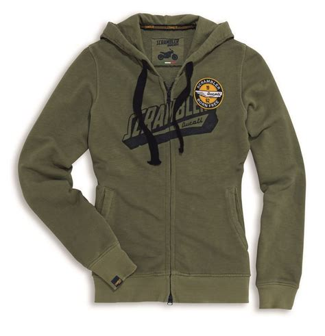 Hoodie Zipper Ducati Cloth ducati scrambler hoodie sweatshirt 1962 olive with zip