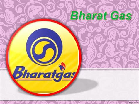 bharat gas logo in ppt bharat gas booking process powerpoint presentation id 7145676