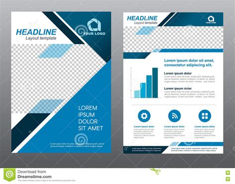 cover layout design vector layout flyer template size a4 cover page blue tone vector