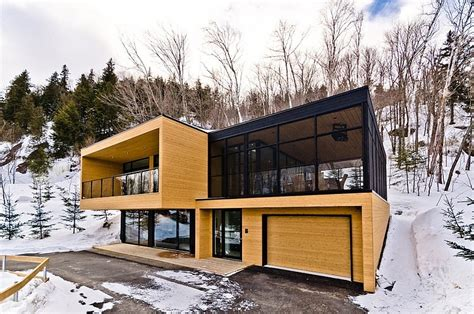 contemporary mountain condominium chalets modern house