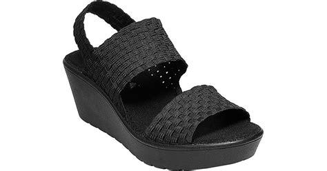 steve madden eddna wedge sandal steve madden black wedge sandals www pixshark