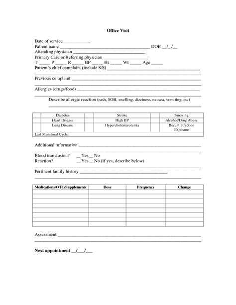 best photos of medical office forms templates medical