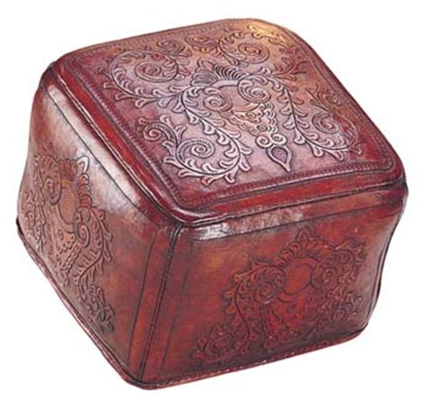 ottoman colonialism leather ottoman colonial red western ottomans free shipping