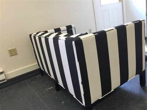 striped loveseat chic updated vintage black and white striped loveseat at