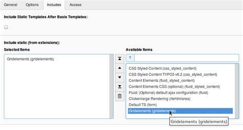 typo3 backend layout grid elements installation gridelements 8 2 1 documentation