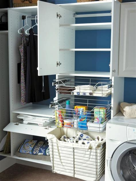 laundry room basket storage 10 clever storage ideas for your tiny laundry room hgtv