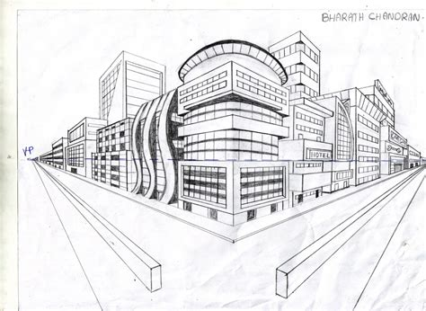 2 Drawings In 1 by Two Point Perspective City Pictures To Pin On