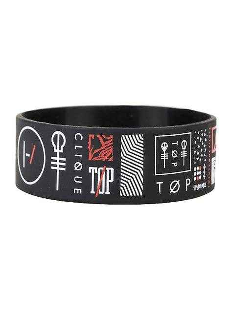 Twenty One Pilots Symbols Rubber Bracelet   Hot Topic