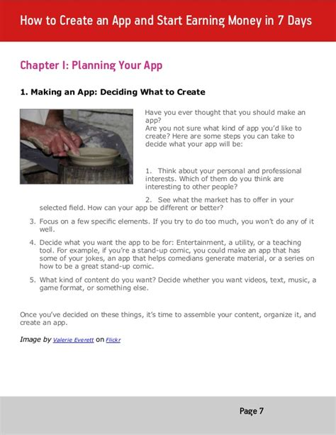 how to crate your in 7 days how to create an app and start earning money in 7 days