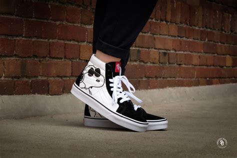 Sepatu Vans X Peanuts vans x peanuts sk8 hi reissue joe cool black vn0a2xsboqu