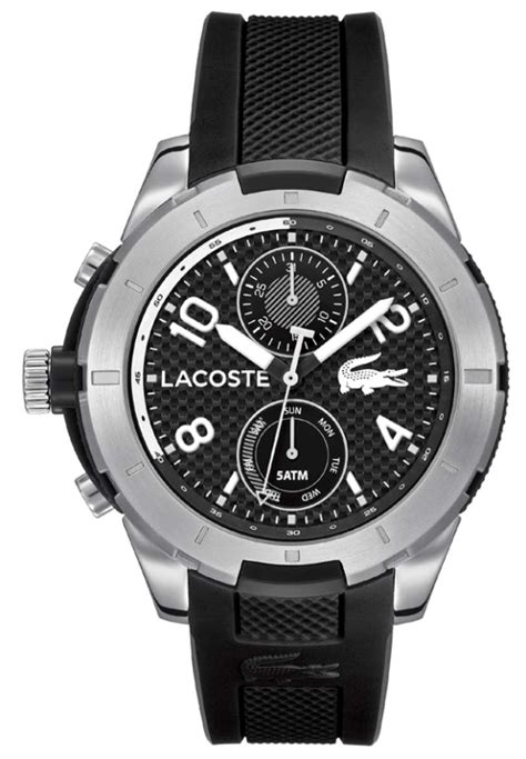 Lacoste 2010759 Tonga Black Silicone s lacoste tanga black silicone 2010759