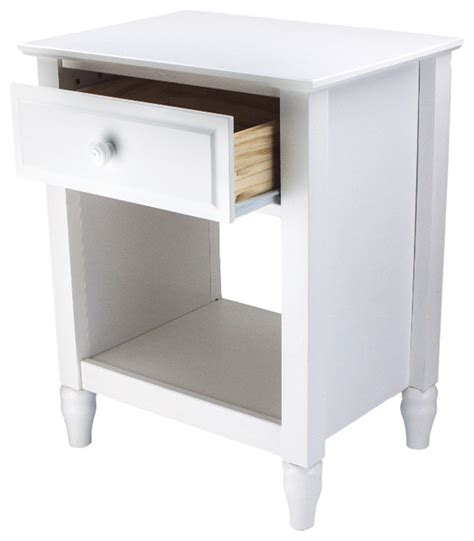 Adeptus Single Drawer End Table - cottage single drawer end table nightstand traditional