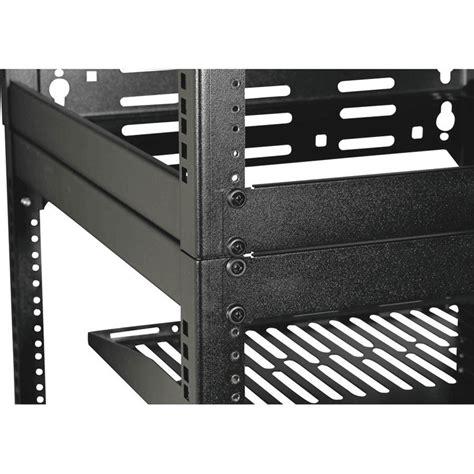 15u Rack by Sanus 15u Stackable Or Wall Mountable Skeleton Rack Black