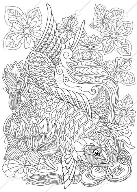 carp fish coloring pages carp koi fish coloring page adult coloring by