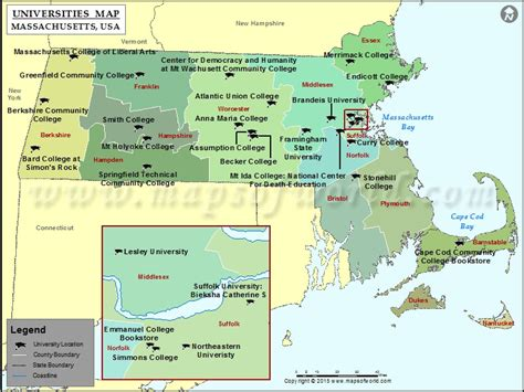 colleges in plymouth ma list of universities in massachusetts map of