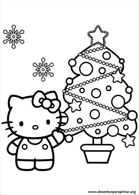 coloring pages joyeux noel hello kitty de natal desenhos para imprimir colorir e