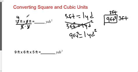 Formula For Cubic Yards Converting Square And Cubic Ft To Yards