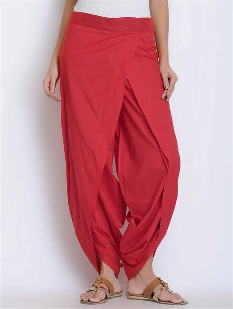 dhoti pattern kurti online buy red cotton dhoti pants online cotton clothes and kurti