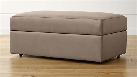 storage ottoman with casters lounge ii leather storage ottoman with casters crate and