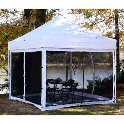 Instant Up Screen House With Awnings King Canopy S 10 X 10 Bug Screen Room Walmart Com