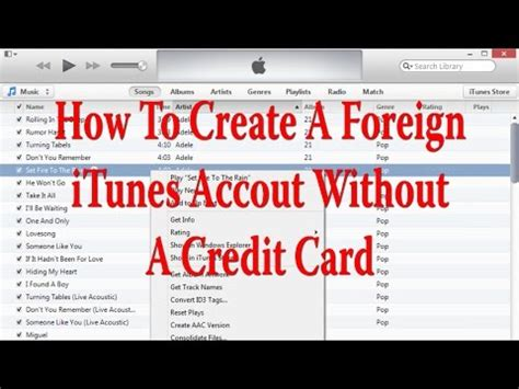 can i make an itunes account without a credit card how to create foreign itunes account without a credit card