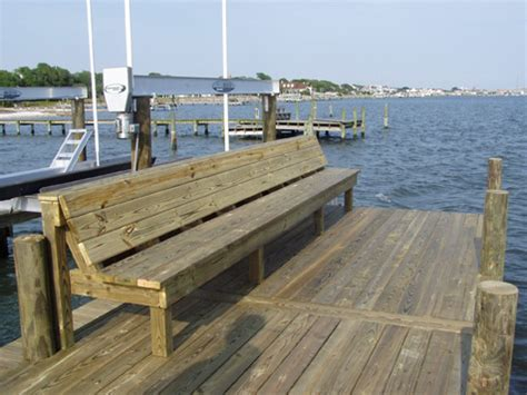 boat dock benches allied marine photos