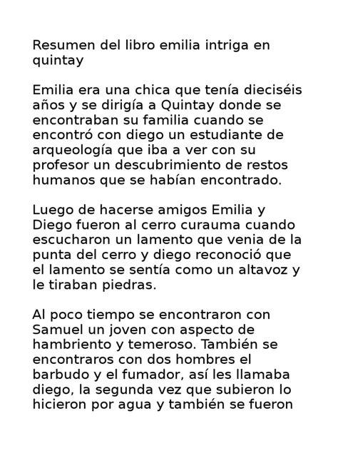 libro los descubrimientos de l y l editorial nirvana resumen de la novela emilia intriga en quintay