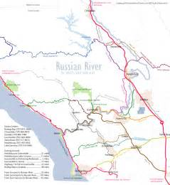 russian river detailed area map favorite places