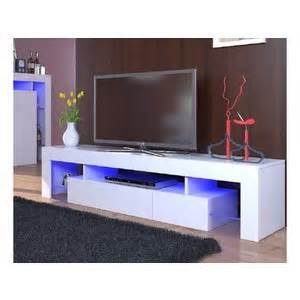 meuble tele blanc meuble tele laque blanc 180 comparer les prix sur choozen fr