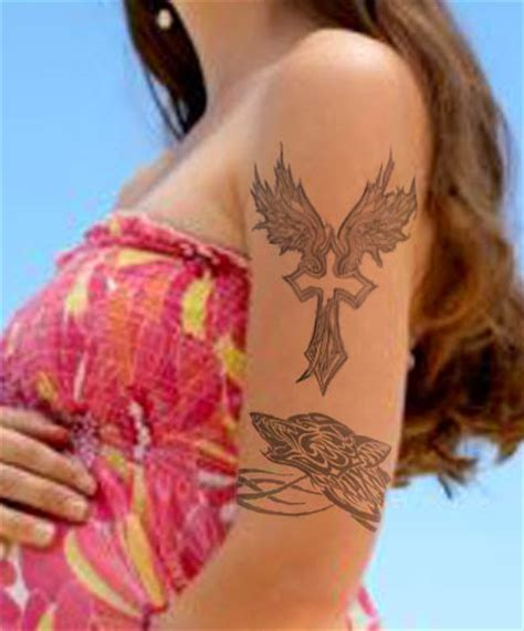 cute girl cross tattoos 20 cross designs for