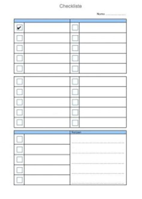 checkliste vorlage muster und vorlagen kostenlos
