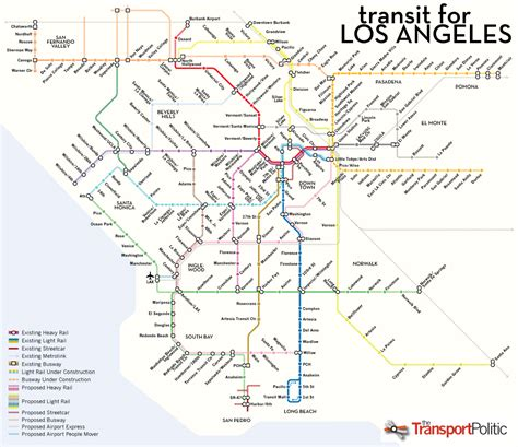 la subway map los angeles has big transit ambitions but which project comes 171 the transport politic