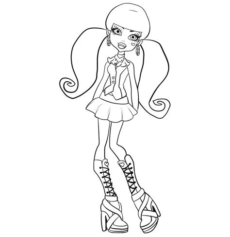 monster high coloring page gallery of art monster high coloring