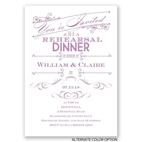Rehearsal Dinner Invitations by Rehearsal Dinner Invitations Yaseen For