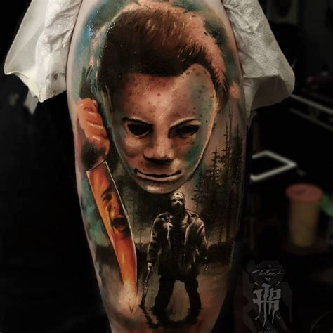movie tattoos michael myers by laszlo hrozik best tattoos