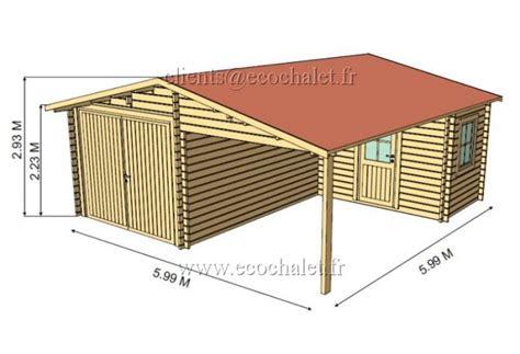 garage 6x6m garage bois plus 6x6m avec l atelier en 44mm
